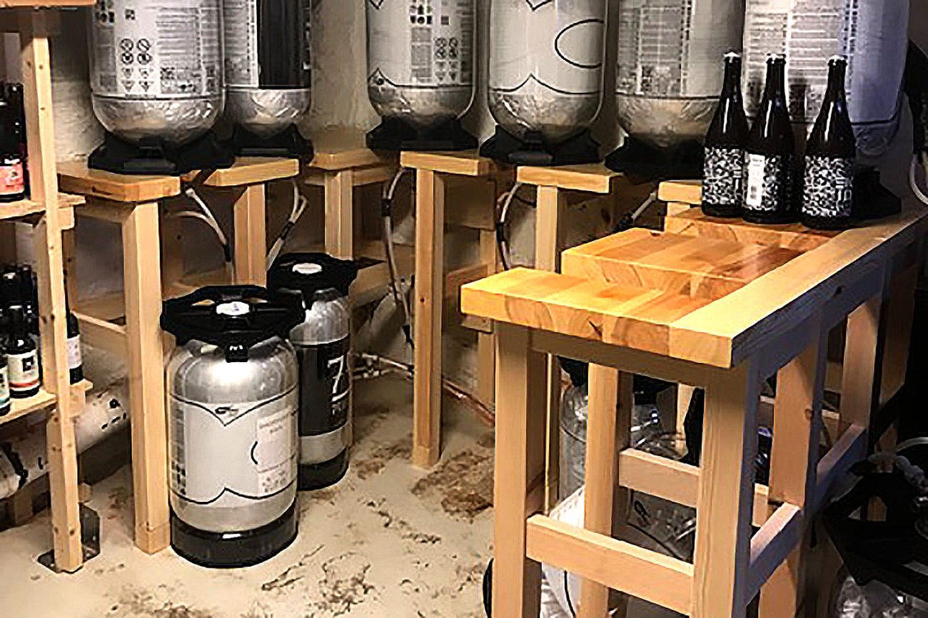 Mysterud bar - ølstativer